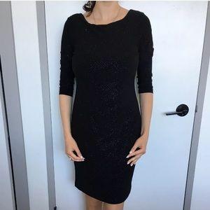 calvin klein dress  Black With Silver size 4